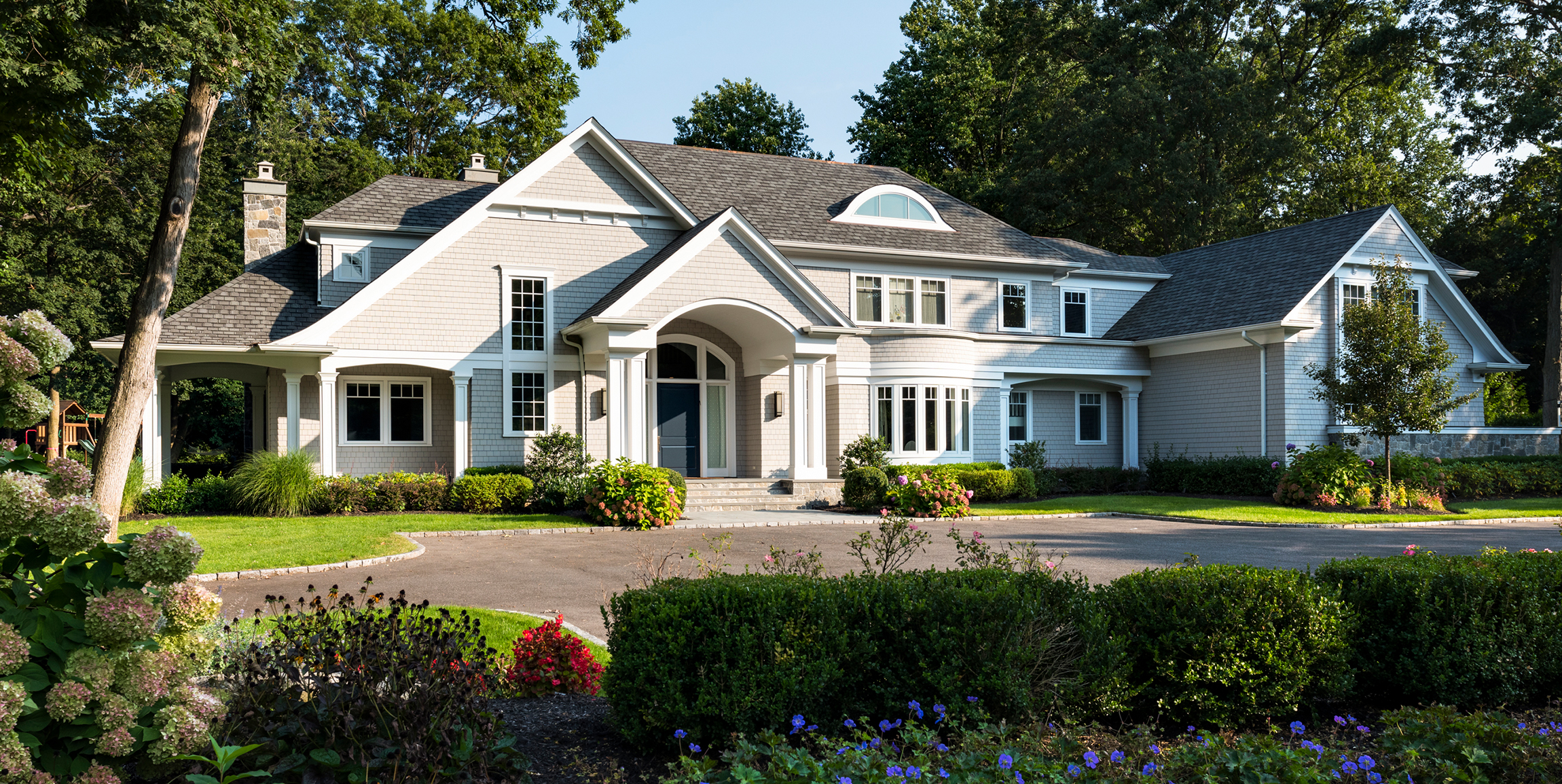 Exterior photo of a shingle style home